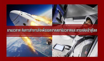 ยานอวกาศ กับการทำภารกิจเพื่อออกจากสถานีอวกาศและการกลับเข้าสู่โลก